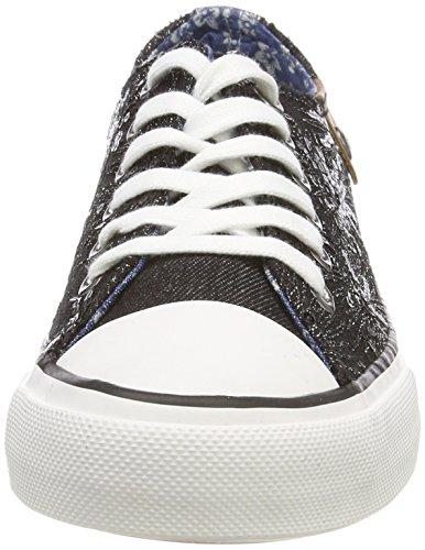 Preußen Fritzi black Bleu Sparkles Sneaker Cap Femme Noir Toe Hava Aus Basses Sneakers 51rHxq1Zw
