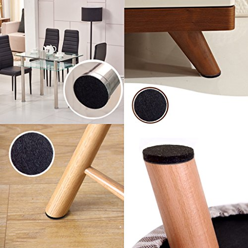 ... FeltMax Black Premium Heavy Duty Self Adhesive Furniture Pads Bundle Protect  Hardwood Floors Laminate and Tile ...