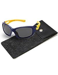 Kids Sports Style Polarized Sunglasses Rubber Flexible...