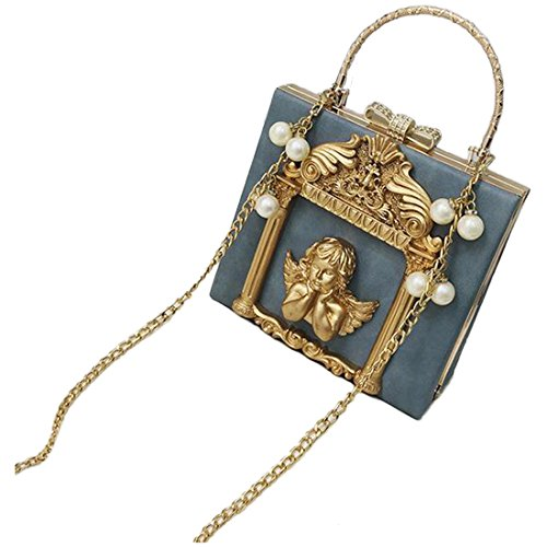 Partiss Style Lolita Blue Sweet Bag Gothic Womens Baroque Vintage pzqrBp