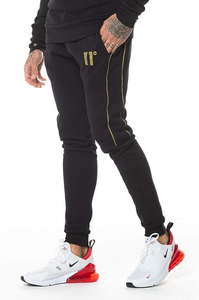 11 Degrees Pantalon de Chandal Doble Raya: Amazon.es: Ropa y ...