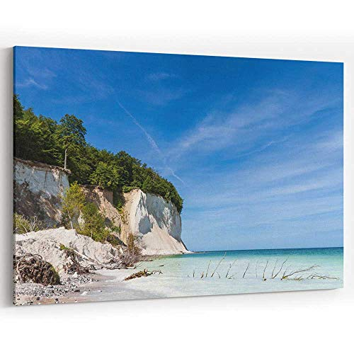Baltic Sea Coast The Island Ruegen Canvas Pr ts Wall Art,Home Decor Stretched-Framed Ready to Hang (Ruegen Island)