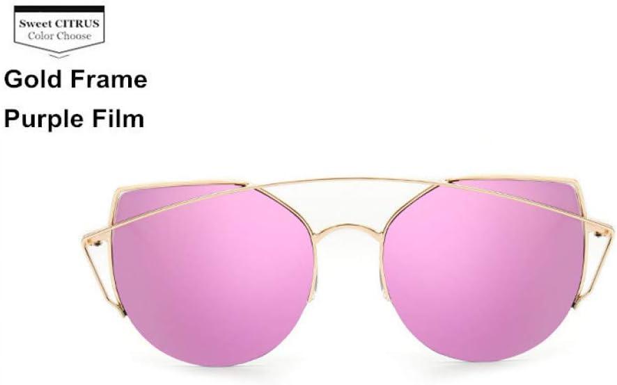 YLNJYJ Hot New Retro Cat Eye Sunglasses Mujeres Diseñador De La Marca Metal Gafas De Sol Originales para Mujer Vintage Oculos De Sol Feminin