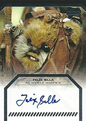 Star Wars Galactic Files Autograph Felix Silla Widdle Warrick at Amazons Entertainment Collectibles Store