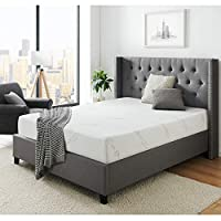 AC Pacific Soft Aloe Collection 8 Inch Luxury Soft Bedroom Aloe Vera Extract Infused Fabric Covered Memory Foam Mattress, Queen Size