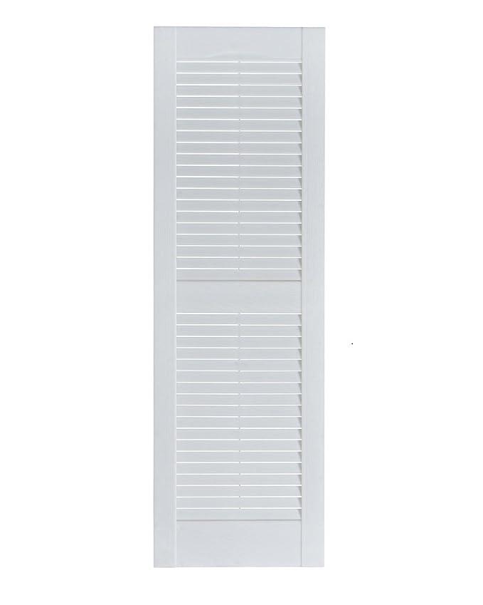 Perfect Shutters Premier Louver Exterior Decorative Shutter Paintable 15x63 in.