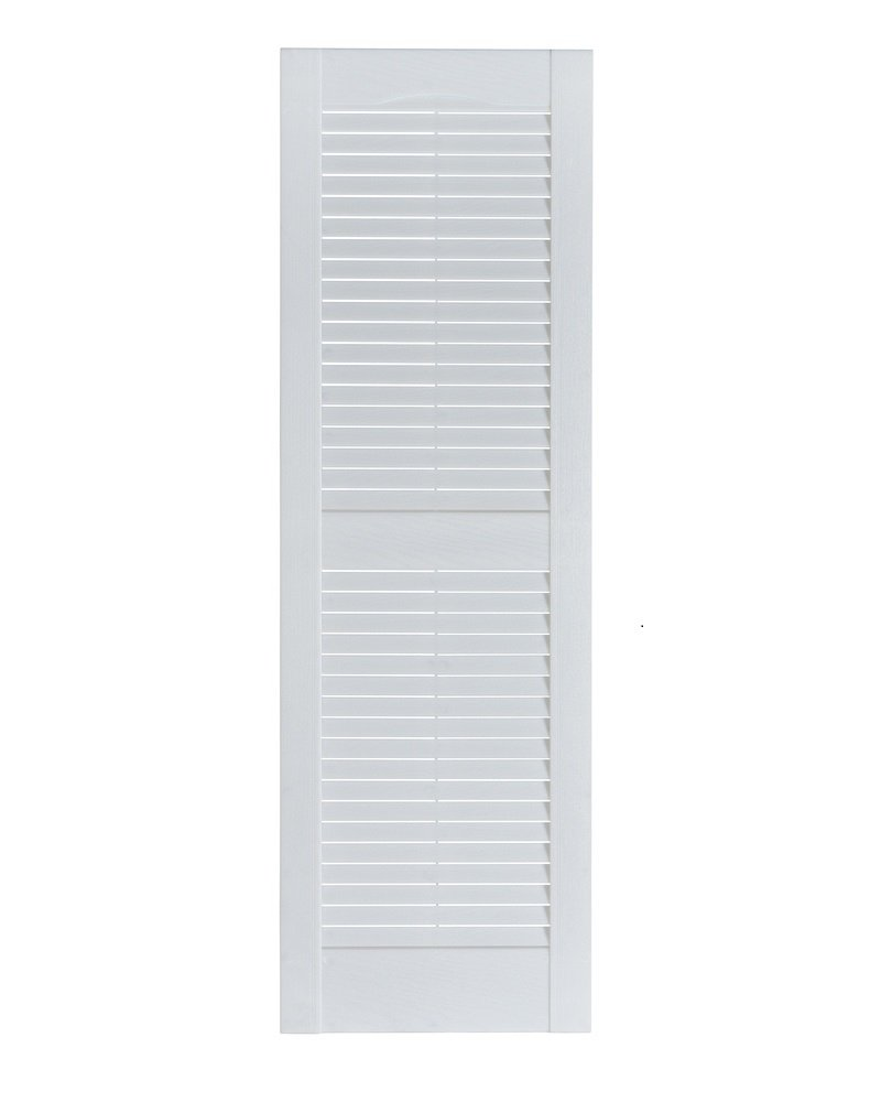 Perfect Shutters Premier Louver Exterior Decorative Shutter, 15'' x 39'', Paintable