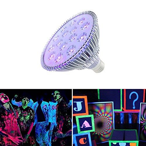 SUNVIE 30W Black lights with 2W×15LEDs UV LED Bulbs, Par38 Spotlight E26 Medium (Uv Reactive Tube)