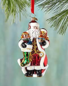 "Christopher Radko a Christmas Classic Glass Santa Christmas Ornament - New for 2014 - 6.5""h. - 1017263"