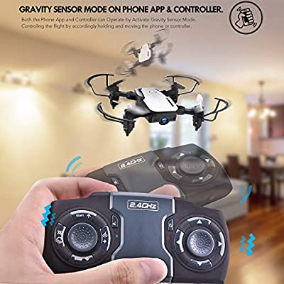 SIMREX X300C Mini Drone RC Quadcopter Foldable Altitude Hold Headless RTF 360 Degree FPV Video WiFi 720P HD Camera 6-Axis Gyro 4CH 2.4Ghz Remote Control Super Easy Fly for Training by SIMREX