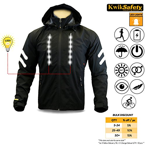KwikSafety Firefly Racing LED Cycling Jacket | Hi Vis Ref...