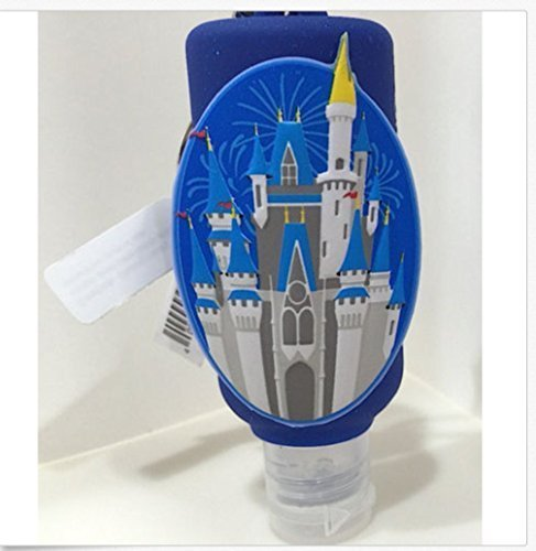 disney-parks-castle-hand-sanitizer-holder-bag-hanger-keychain-refillable-by-disney