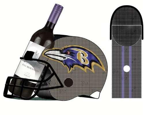 Baltimore Ravens Football Helmet Helmet Helmet Bottle and Cork Cage Holder ffd558