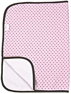 Kushies Deluxe Flannel Change Pad, Pink with Brown Dots (Discontinued by Manufacturer)