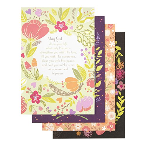 DaySpring Praying for You Greeting Card with Embossed Purple Envelopes, 12 Count, Prayers and Blessings (86071)