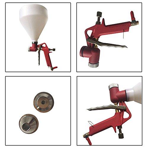 Roadstar Air Hopper Spray Gun Paint Texture Tool Drywall Wall Painting Sprayer w/3 Nozzle