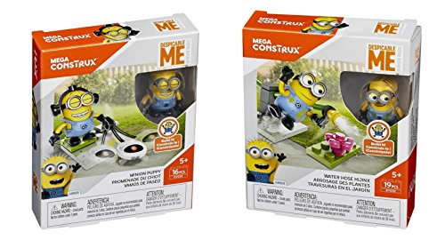 Mega Construx Despicable Me Minion Made Minion Puppy and Wat