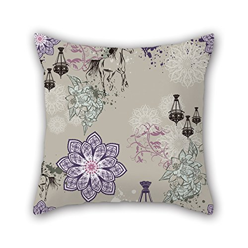 Artistdecor 16 X 16 Inches / 40 By 40 Cm Flower Throw Pillow Covers Two Sides Is Fit For Home Him Kitchen Couch Deck Chair Home Theater