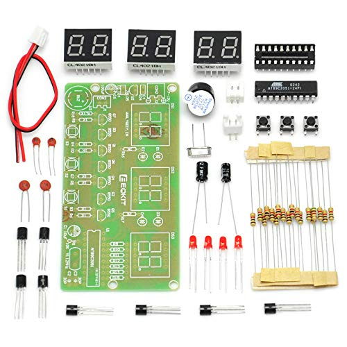 Gikfun 6 Bits Digital LED Electronic Clock DIY Kits PCB Soldering Practice Learning Board AT89C2051 FR-4 for Arduino EK1323 (Led Digit 6)
