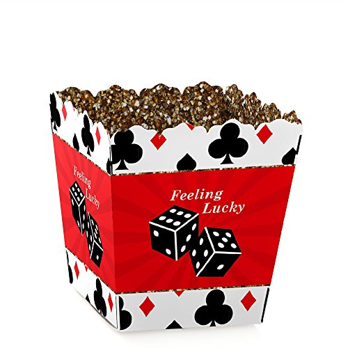 Las Vegas - Party Mini Favor Boxes - Casino Party Treat Candy Boxes - Set of 12]()