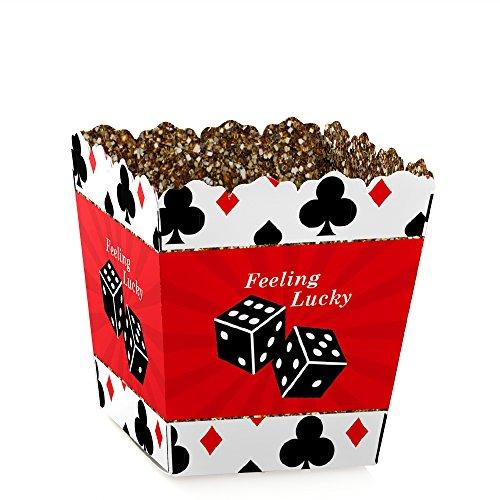 Las Vegas - Party Mini Favor Boxes - Casino Party Treat Candy Boxes - Set of 12 -