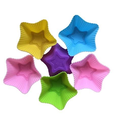 Magdalena moldes de silicona reutilizable para hornear cajas del mollete del arco iris tazas Moldes Helados