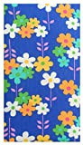 Office Product Blue Flowers Cotton Guest Check Presenter, Check Book Holder for Restaurant, Check Accessories, Waitstaff Organizer, Server Book for Waiters with Money Pocket / With Plastic Cover