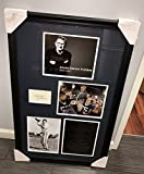 Joe Paterno Autographed Penn State Career 22x34 Framed Best Wishes 3x5 Cut Display