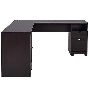 Amazon.com: Mesa de escritorio para ordenador con forma de L ...
