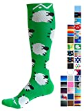 A-Swift Compression Socks for Women & Men - Counting Sheep, Small