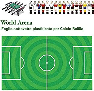 Cartón de campo de fútbol para futbolín para colocar bajo el cristal World Arena, plastificado resistente a los rayos UV.: Amazon.es: Deportes y aire libre