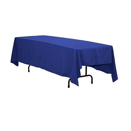 LinenTablecloth 70 X 120 Inch Rectangular Polyester Tablecloth Royal Blue