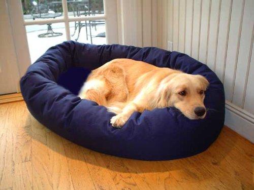 Small 24″ Bagel Donut Dog Cat Pet Bed – Blue, My Pet Supplies