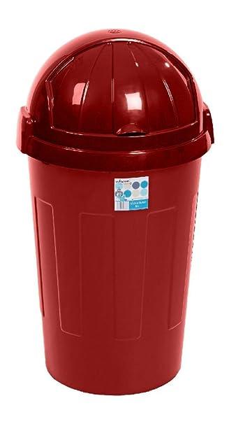 Ponze Kunststoff Abfalleimer, 50 Liter Schwingdeckel Küche Home Staub  Abfall Papier Mülleimer Rot