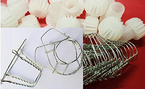 20x Champagne Plastic Stoppers Corks & Wire Cages Set Home Brew Wine Making 855(B0045) Biowin