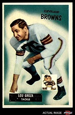 1955 Bowman # 37 Lou Groza Cleveland Browns-FB (Football Card) Dean's Cards 5 - EX Browns-FB