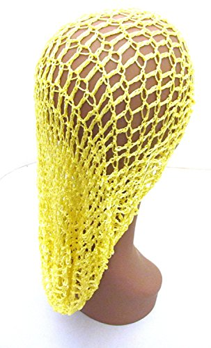 Extra Long Hair Net Snood - Yellow