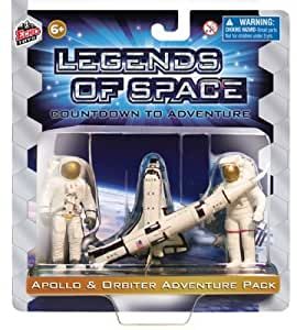 Legends of Space: Countdown to Adventure Apollo and Space Shuttle Astronaut Playset