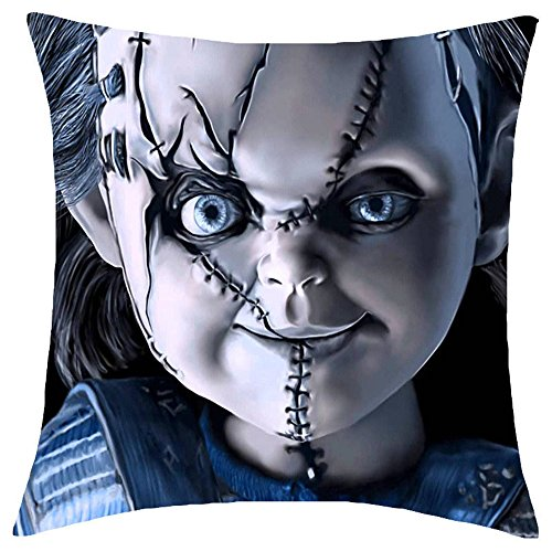 Fyon Ghost Freddy Toy Bear Doll Horror Game Cushion Cover Classic Game Pillow Cover Decorative Pillows Sofa Car 18x18inch 10A