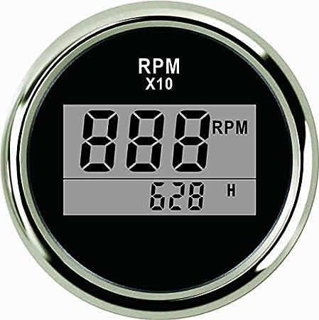 Jauge de carburant jauge de niveau de carburant de voiture universelle 52mm LED compteur de gamme num/érique E-1//2-F avec capteur de carburant