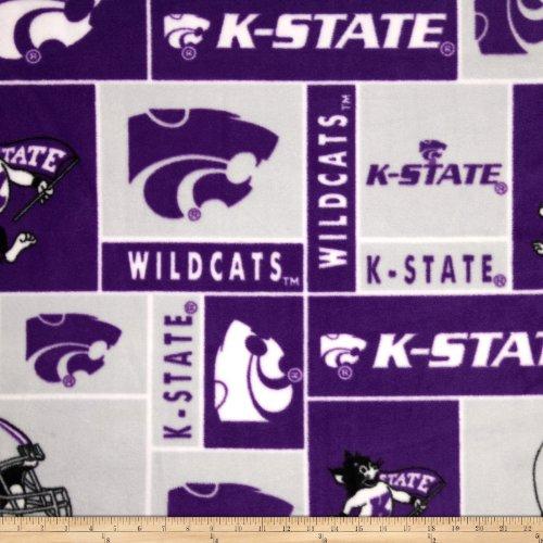 (Sykel Enterprises Collegiate Fleece Kansas State University Fabric by The Yard,)