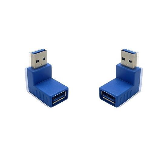 7 opinioni per Sienoc 2PK-Adattatore USB 3,0 maschio/femmina, 90° verso l'alto dall'compatibile