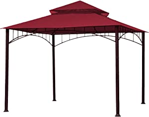 ABCCANOPY Replacement Canopy roof for Target Madaga Gazebo Model L-GZ136PST (Burgundy)