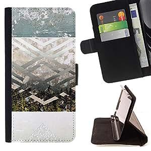 "For Motorola Moto E ( 1st Generation ),S-type Geométrico Espiritual Arte Paisaje"" - Dibujo PU billetera de cuero Funda Case Caso de la piel de la bolsa protectora"