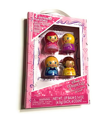 Disney Lip Balm - Disney Princess Lip Balm Pack - 4 Flavors