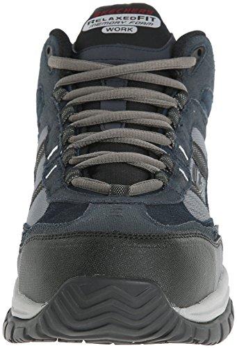 Work Men's Gray Stride for Resistant Canopy 70727 Skechers Navy Soft Boot Slip Work T6q5REw