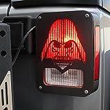 Xprite 2007–2017Jeep Wrangler JK Unlimited luz negra, guarda Star War «Darth Vader» para luces traseras (luz trasera) cubierta–par