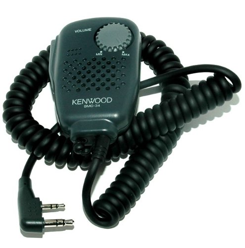 Kenwood Original SMC-34 Hand Speaker Mic w/ Swivel Clip, Volume & Remote Control, & 2.5 mm Earpiece Audio Jack by Kenwood