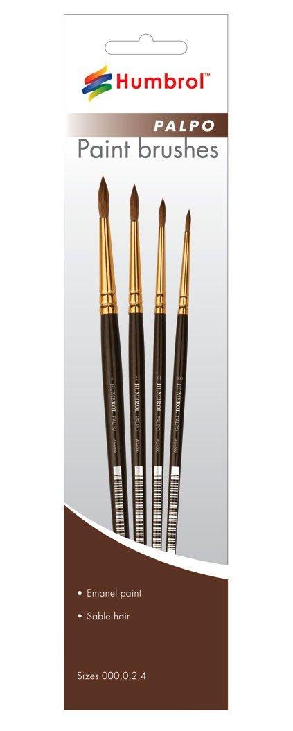 Humbrol AG4250 Palpo 000, 0, 2, 4 Brush Pack