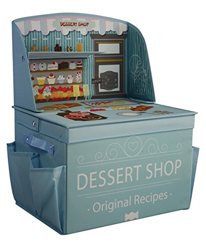 ASWEETS Dessert Shop Foldable Storage Play Table, Light Blue